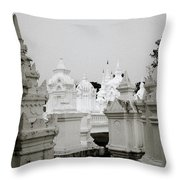 Wat Suan Dok Cemetery  Throw Pillow
