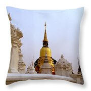 Wat Suan Dok Royal Cemetery  Throw Pillow