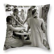 Wat Suan Dok Throw Pillow