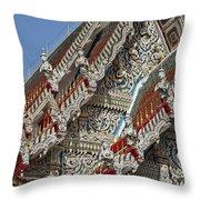 Wat Suan Phlu Ubosot Angel Gable Finials Dthb227 Throw Pillow