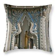 Wat Suan Phlu Ubosot East Portico Dthb1133 Throw Pillow