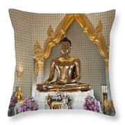 Wat Traimit Golden Buddha Dthb964 Throw Pillow