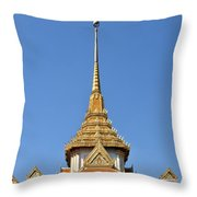 Wat Traimit Phra Maha Mondop Of The Golden Buddha Dthb956 Throw Pillow