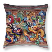 Wat Uphai Rat Bamrung Dancing Dragon Diorama Dthb1095 Throw Pillow