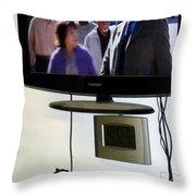 Watching Tv Throw Pillow