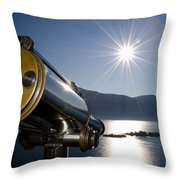 Watching With A Telescope Islands Throw Pillow