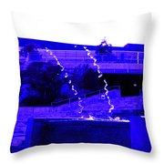 Water Art In Purple Throw Pillow