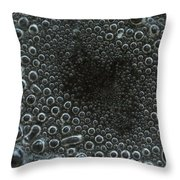 Water Boiling In Pan Throw Pillow