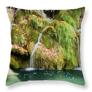 Water Cascade Throw Pillow