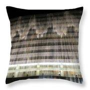 Water Cascade Over Building Throw Pillow