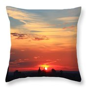 Water Color Sky Throw Pillow