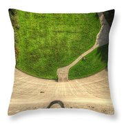 Water Dam And A Shoe Throw Pillow
