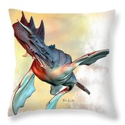 Water Dragon Throw Pillow by Bob Orsillo