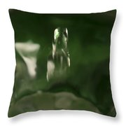 Water Drop Abstract Green 27 Throw Pillow