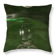 Water Drop Abstract Green 37 Throw Pillow