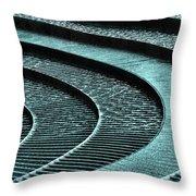 Water Feature - Aqua  Throw Pillow