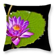Water Flower Throw Pillow
