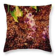 Water Flowers Vietnam Throw Pillow