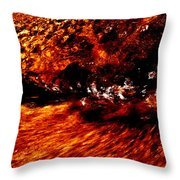 Water Flowing Abstract Throw Pillow