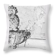 Water Fountain 1 Throw Pillow