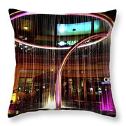 Water Fountain With Circle Seven Shape Throw Pillow