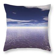 Water Horizon Throw Pillow