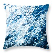 Water In A Pool Which Lock Like A Frozen Water Stream Of A River Throw Pillow