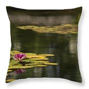 Water Lilies And Lily Pads Throw Pillow