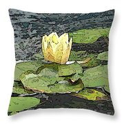 Water Lily Cometh Throw Pillow
