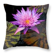 Water Lily Magic Throw Pillow