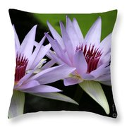 Water Lily Twins Throw Pillow