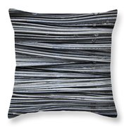 Water On Wire Throw Pillow