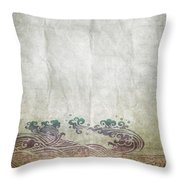 Water Pattern On Old Paper Throw Pillow by Setsiri Silapasuwanchai