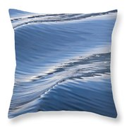 Water Patterns Of Boat Wake Throw Pillow