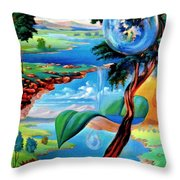 Water Planet Throw Pillow