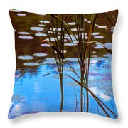 Water Plants Throw Pillow