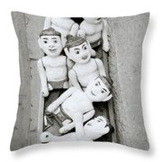 Water Puppets In Hanoi Throw Pillow