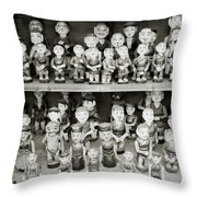 Water Puppets Throw Pillow
