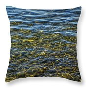 Water Ripples And Reflections On Lake Huron Throw Pillow