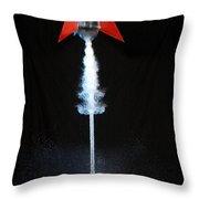 Water Rocket Throw Pillow