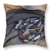 Water Sculpted Rock Bed, Kicking Horse Throw Pillow