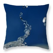 Water Sculpture Throw Pillow