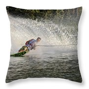 Water Skiing 14 Throw Pillow