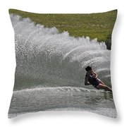 Water Skiing 19 Throw Pillow