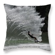Water Skiing 20 Throw Pillow