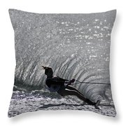 Water Skiing 3 Throw Pillow