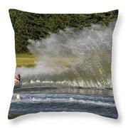 Water Skiing 4 Throw Pillow