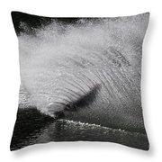 Water Skiing 5 Throw Pillow