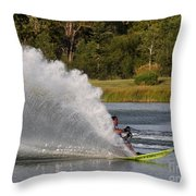 Water Skiing 6 Throw Pillow