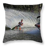 Water Skiing 8 Throw Pillow